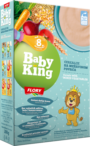 BABY KING CEREALS WITH MIXED VEGETABLES RICH IN VITAMINS AND MINERALS