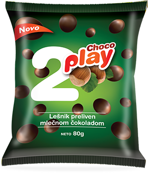 CHOCO PLAY HAZELNUT COATED IN MILK CHOCOLATE