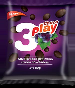 CHOCO PLAY SUVO GROŽĐE PRELIVENO CRNOM ČOKOLADOM