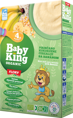BABY KING RICE AND CORN CEREALS WITH BANANA ORGANIC